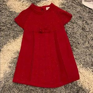Cat and Jack 18 month red shimmer dress